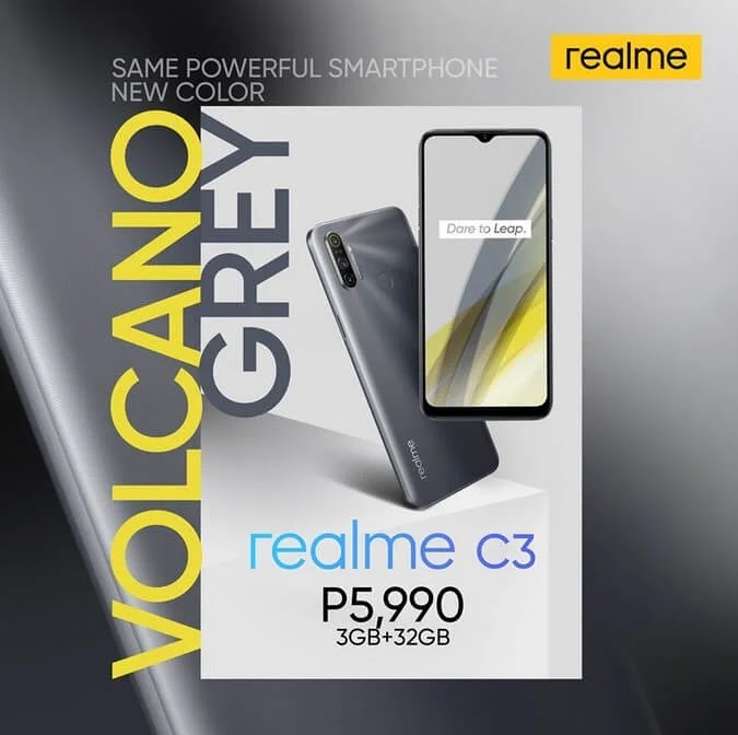 Realme C3 with Helio G70 Gaming Chip and 5000mAh Battery Now Available in Volcano Grey