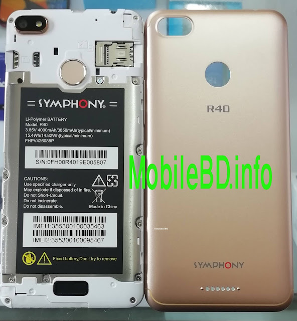 Symphony R40 FRP Reset File Without password free Download