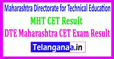 DTE Maharashtra CET Exam Result