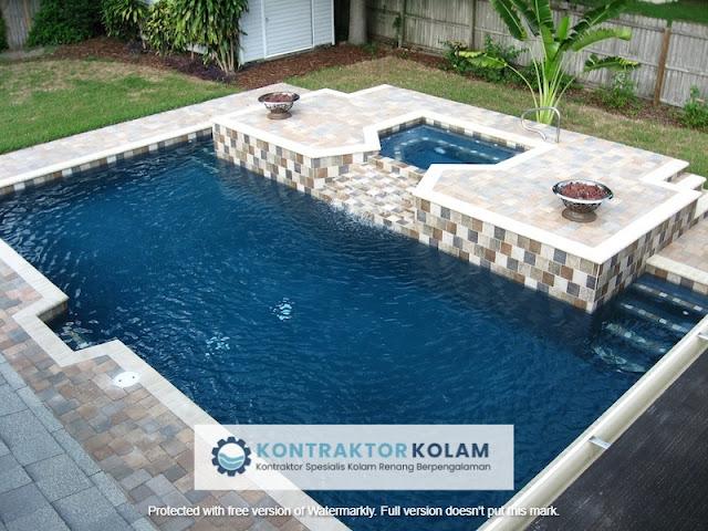 desain kolam renang rectangular pool Tangerang Selatan