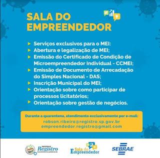 Sala do Empreendedor de Registro-SP oferece orientações para MEIs