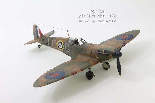 Maquette du Spitfire MkI d'Airfix au 1/48.