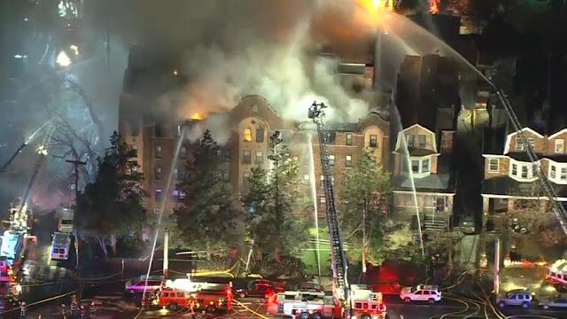 Φιλαδέλφεια: Τεράστια φωτιά σε συγκρότημα κατοικιών (βίντεο)