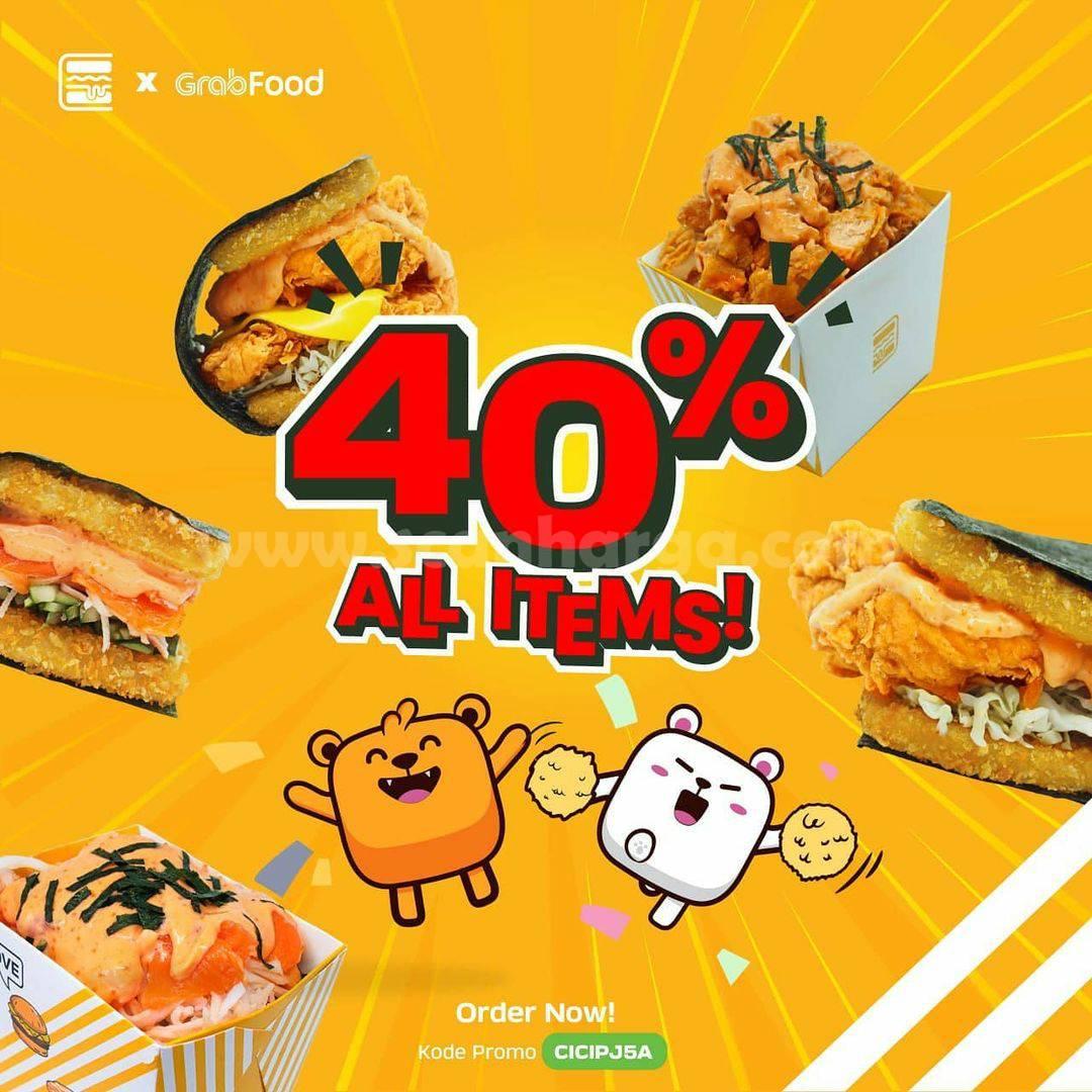 BURGUSHI Promo DISKON 40% All Items via GRABFOOD