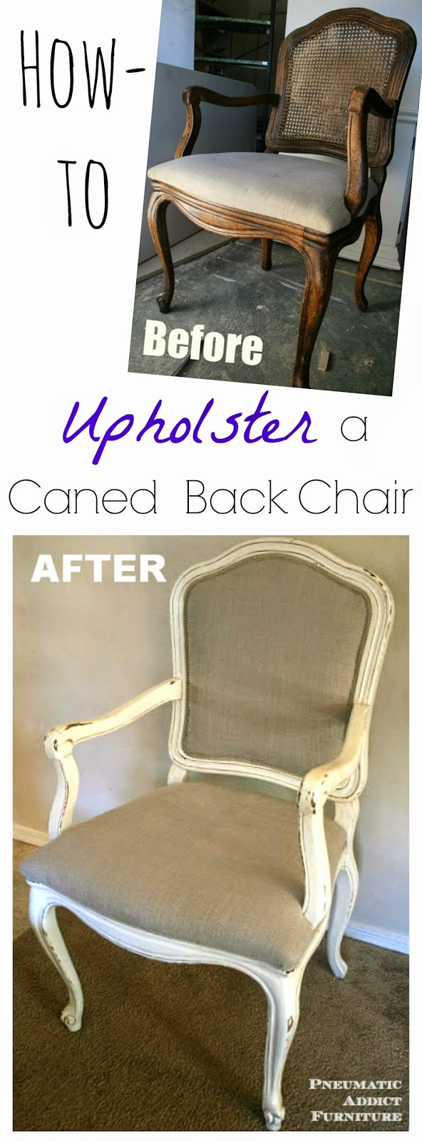 how to replace cane back chair with fabric extra large bean bag upholster a caned tutorial pneumatic addict let s be friends follow along so you don t miss thing