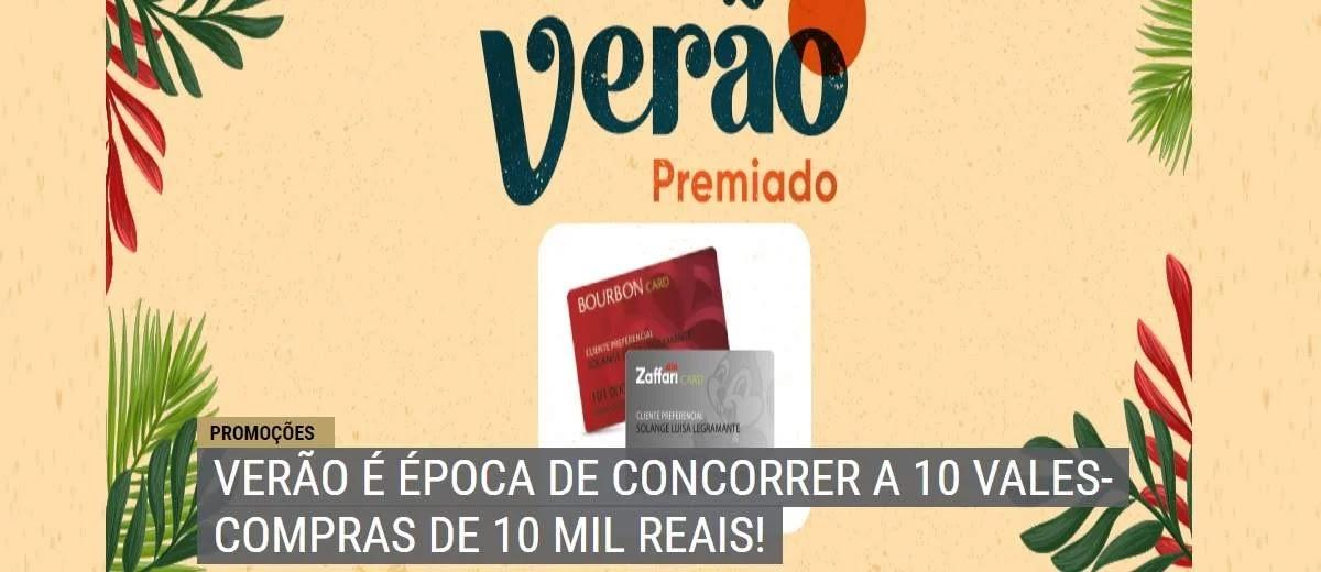 Promoção Bourbon Card Verão 2020 Premiado 10 Vales Compras 10 Mil Reais