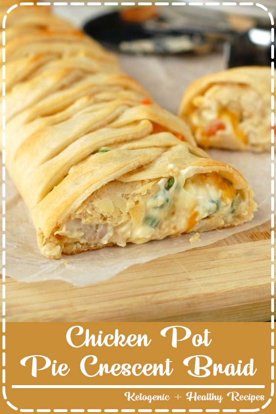 This delicious and easy dinner is the perfect solution on a busy weeknight Chicken Pot Pie Crescent Braid