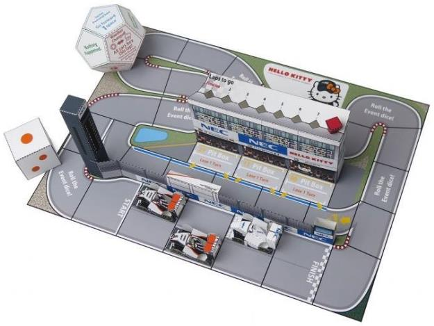 papermau sahara force india formula 1 dice game papercraft by nec. Black Bedroom Furniture Sets. Home Design Ideas