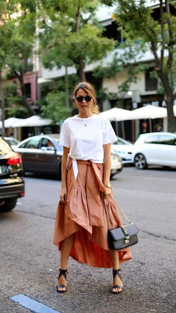 wakacyjna sukienka, sukienka na wesele, wiosenna stylizacja, letnia stylizacja, moda po 40,sukienki maksi, spodnica maksi,