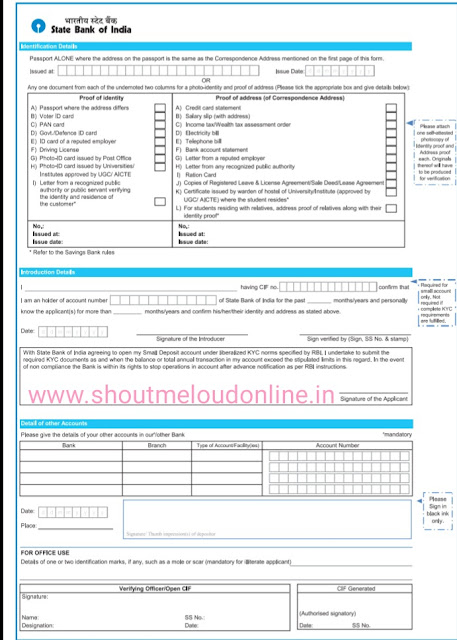 bank account form kaise bhare full guide