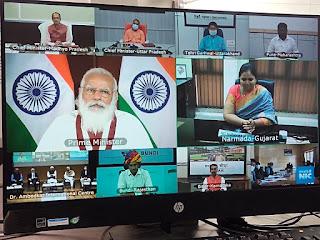 मंत्री रामकिशोर 'नानो' कावरे वी.सी. के माध्यम से कैच द रेन अभियान कार्यक्रम में हुए शामिल
