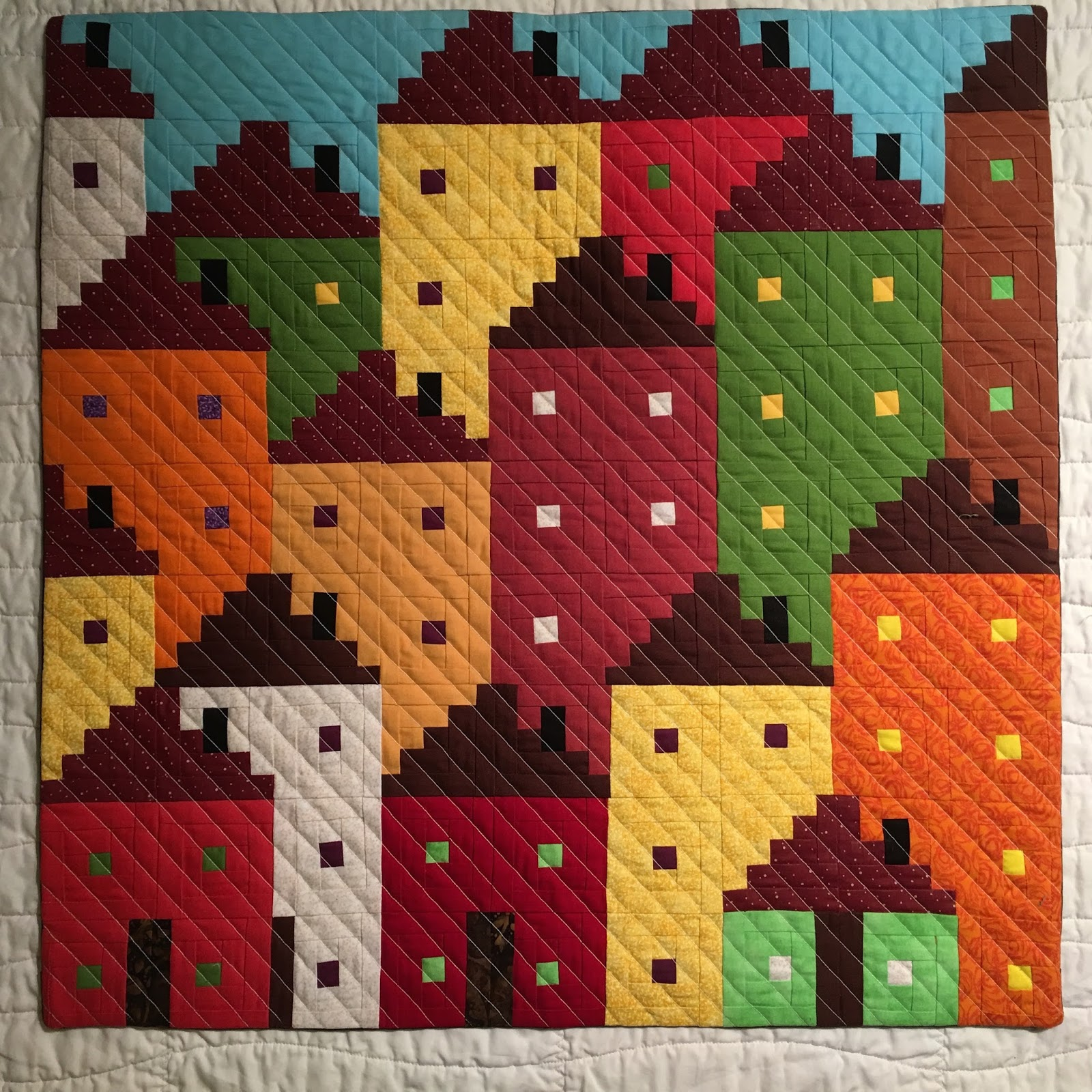 Very Impressive portraiture of Sew Preeti Quilts: Bloggers Quilt Festival Sun City (Scrappy  with #B13B1A color and 1600x1600 pixels