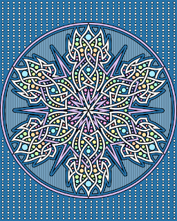 Snowflake Coloring Page- blank version available