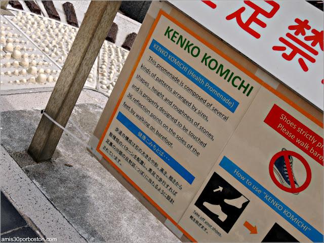 Instrucciones del Kenko Komichi en Tokio