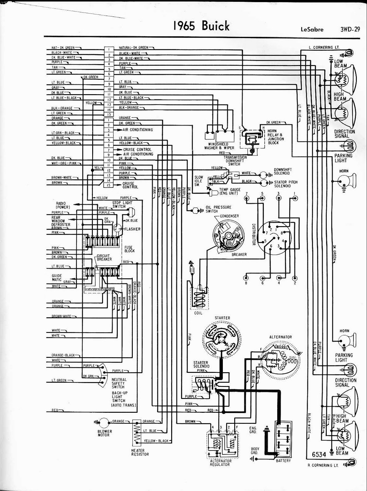free auto wiring diagram 1965 buick lesabre front side. Black Bedroom Furniture Sets. Home Design Ideas