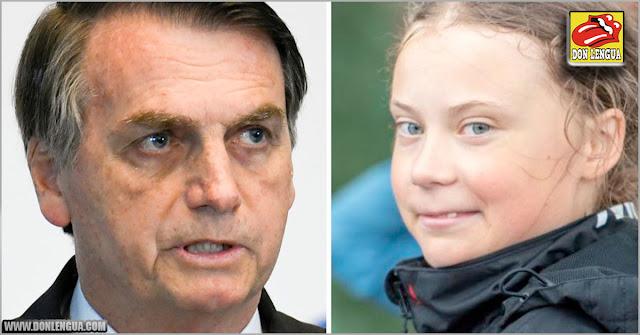 Bolsonaro le dio con todo a Greta y la calificó como una Mocosa