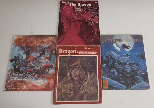 Dragon Magazine covers featuring the witch class.