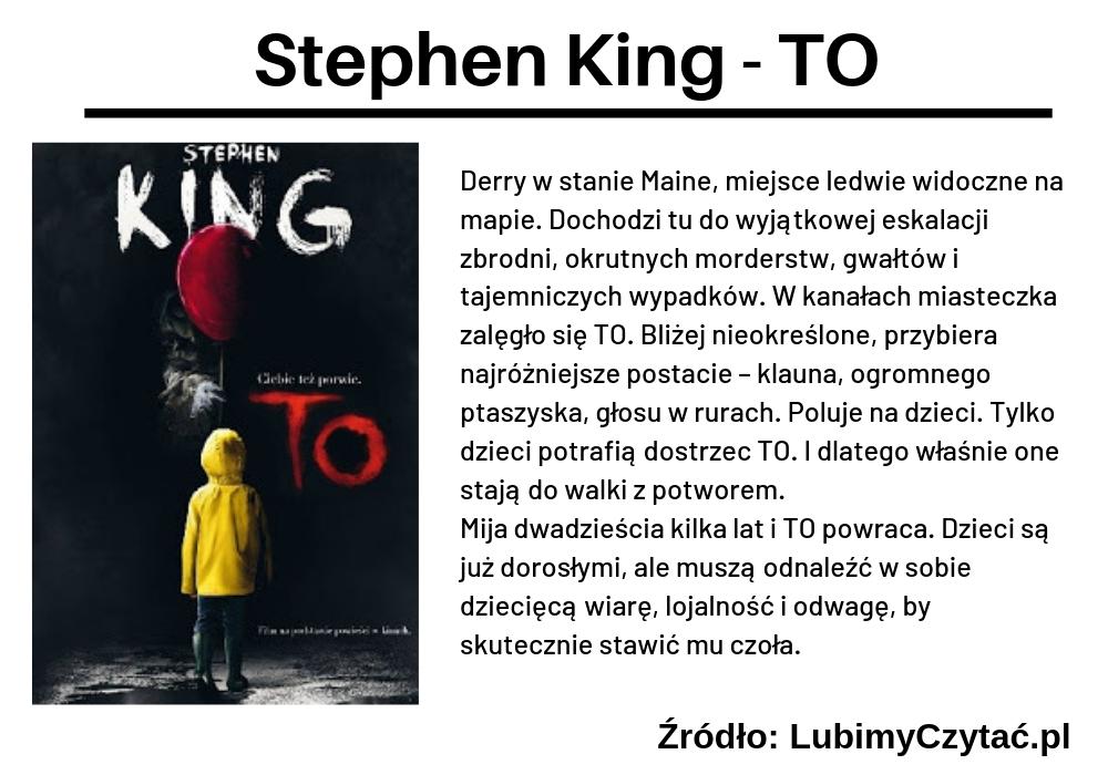 Stephen King, TO, TOP 5, Marzenie Literackie