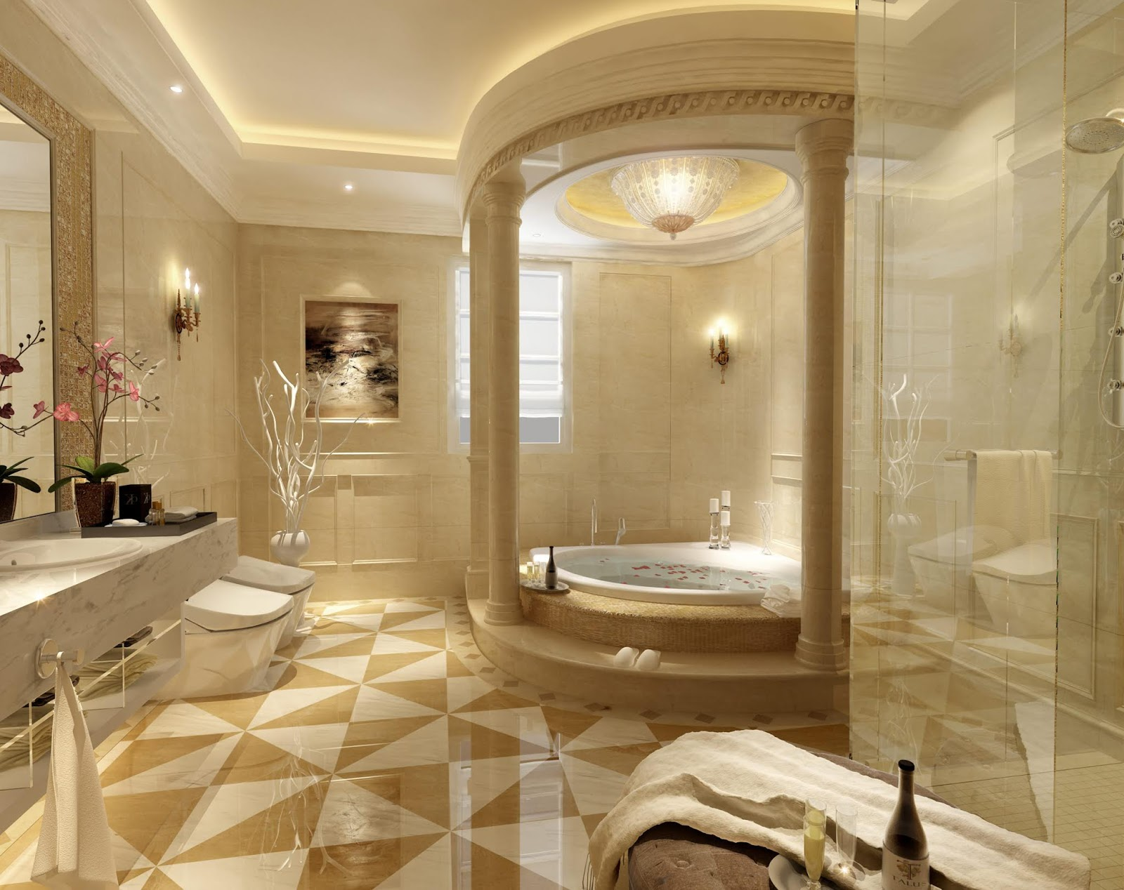 Osmanl motifleriyle dizayn edilmi banyo rnekleri kopmaca for Dos arredamenti