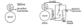 Opel GT Protective Ignition Relay Installation Circuit Schematic