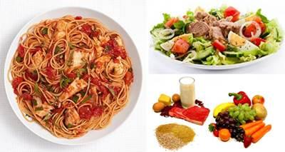 Carbohidratos, proteínas y verduras para luego de hacer ejercicio