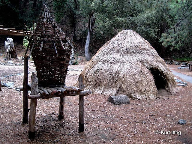 Reproduction of a Tongva summer camp, located behind the Mt. Baldy Visitor Center.