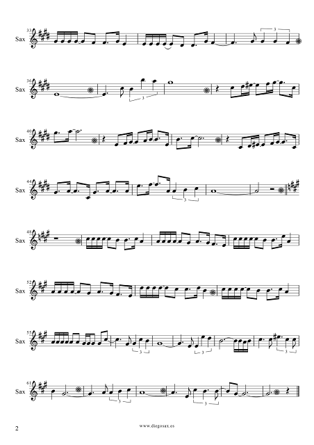 2 Partitura de Vivo por Ella para Saxofón Tenor de Andrea Bochelli y Marta Sánchez. Partitura de Vivo Per Lei sheet music tenor sax (music score). ¡Para tocar junto a la música!