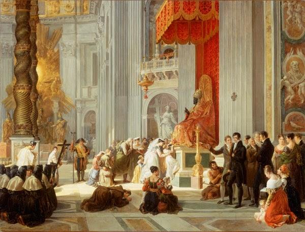 Le Baiser des Pieds à St. Pierre de Rome (1812), Hortense Haudebourt-Lescot