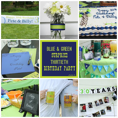 Blue & Green Surprise 30th Birthday Party