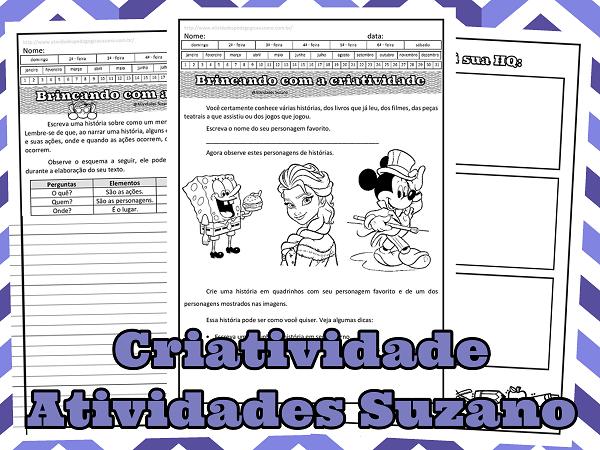 Língua Portuguesa, produção de texto, criatividade, lúdico