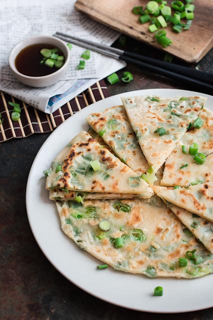 Recette des crêpes chinoises aux oignons verts