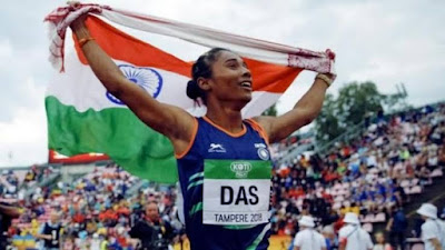 Hima Das wins gold in 400m race, 5th in a month