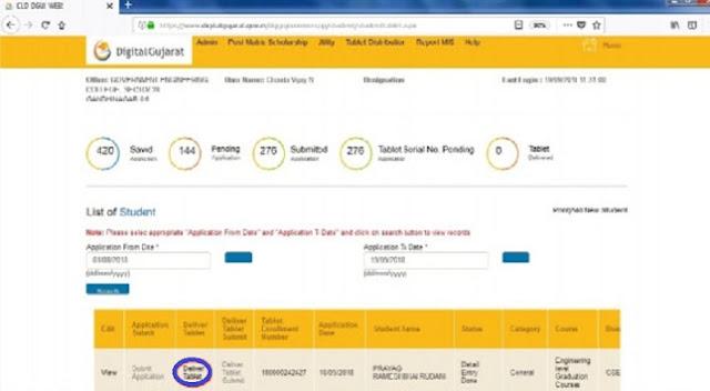 Digital Gujarat Tablet Scheme 2021 Online Registration NAMO Tablet Yojana @digitalgujarat.gov.in