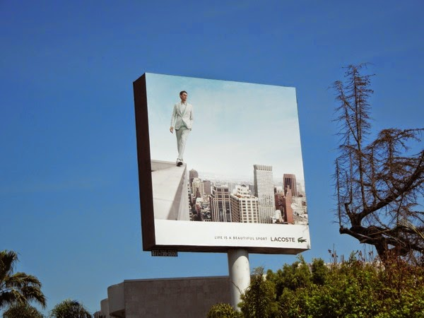 Lacoste Life ia a beautiful sport male model billboard
