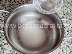 Rulada cu ciocolata preparare reteta crema - punem apa peste zahar