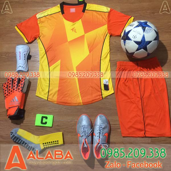 Áo bóng đá phủi màu cam đẹp