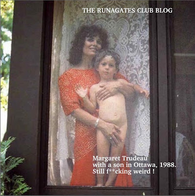 Margaret Trudeau exposes her naked son  Kyle to camera, Ottawa 1979
