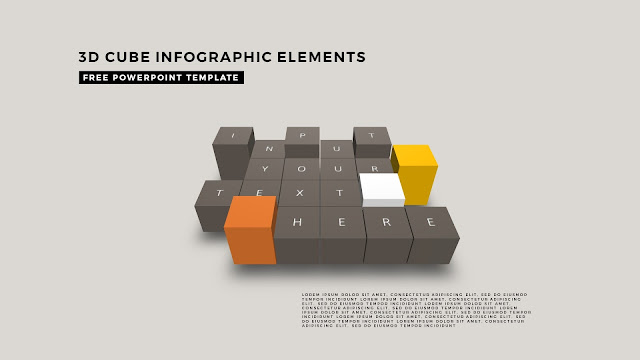 3D Cube Infographic Elements for Free PowerPoint Template Design Slide 2