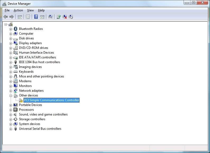 pci simple communications controller windows 7 hp download