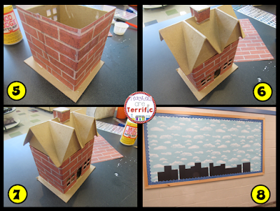 Bulletin Boards Step by Step- Here's a fabulous board that is really easy to put together. It's also three dimensional!