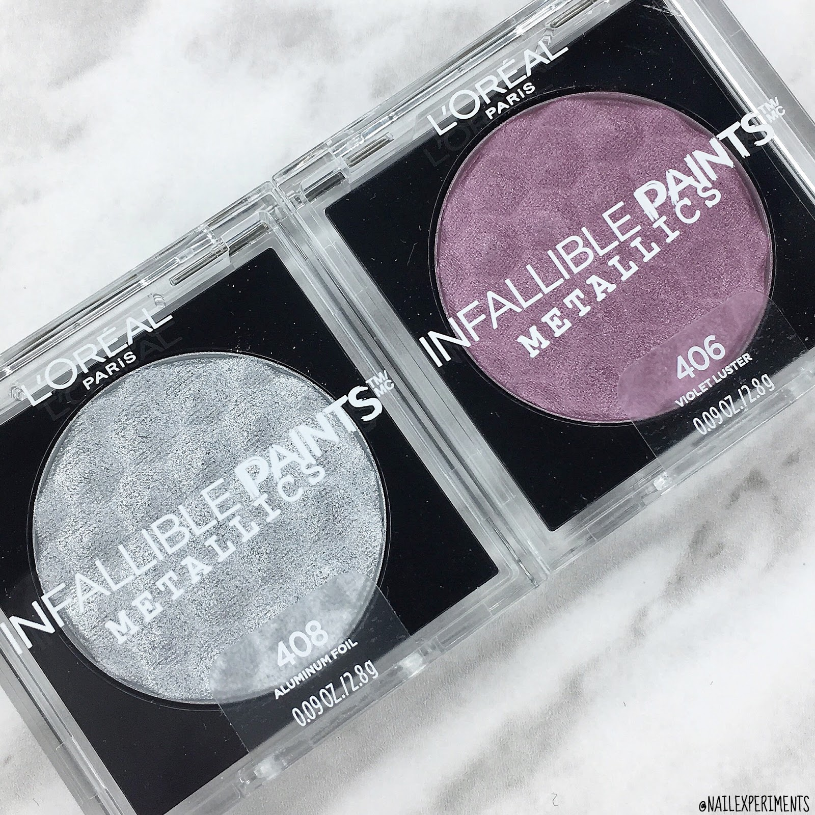 l'oreal infallible paints metallics eye shadow
