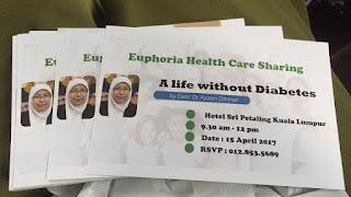 Seminar Kesihatan Diabetes dan Seminar Leader Build Leader anjuran Founder Euphoria Shaklee