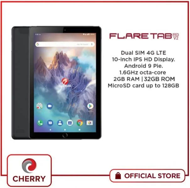 Cherry Mobile Flare Tab Pro V2, Dual SIM 4G LTE Octa-Core Tablet for Only Php5,999