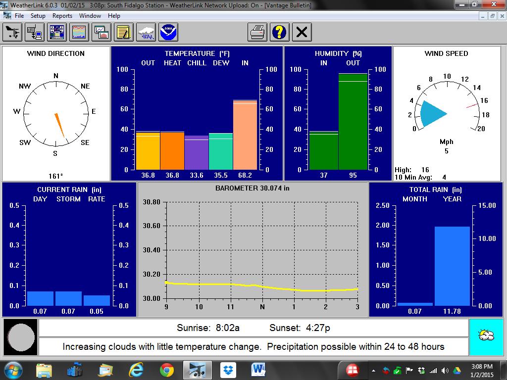 WeatherLink Software Screen Shot