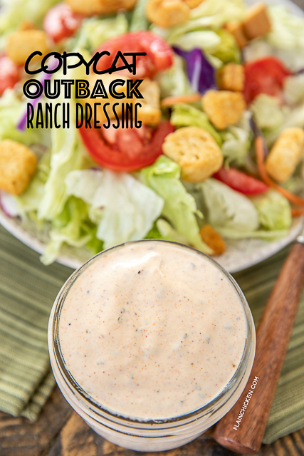 salad dressing in a jar
