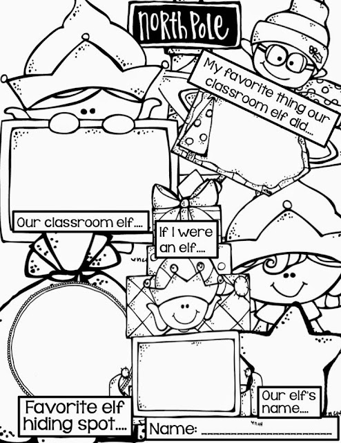 Freebielicious: Elf Writing FREEBIE