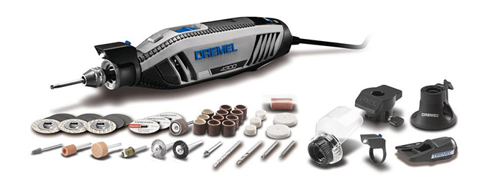 Dremel rotary tool with a great variety of accessories