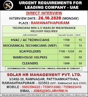 UAE JOBS : REQUIRED FOR A LEADING COMPANY IN UAE .g