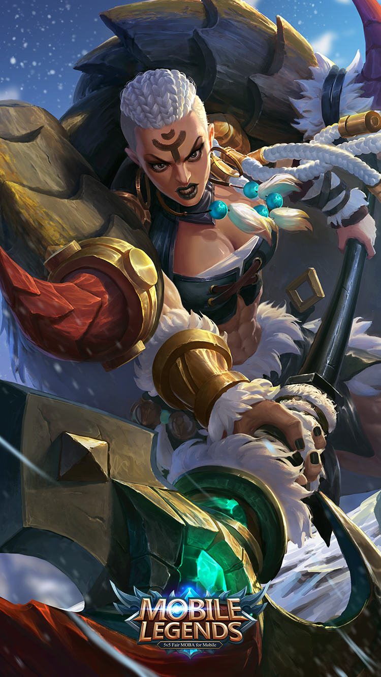 Wallpaper Hilda Power of Wildness Skin Mobile Legends HD for Mobile