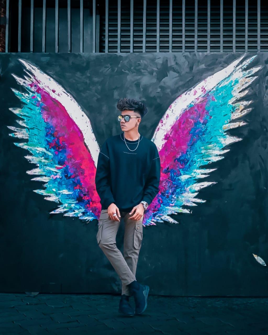 Snapseed creative wings